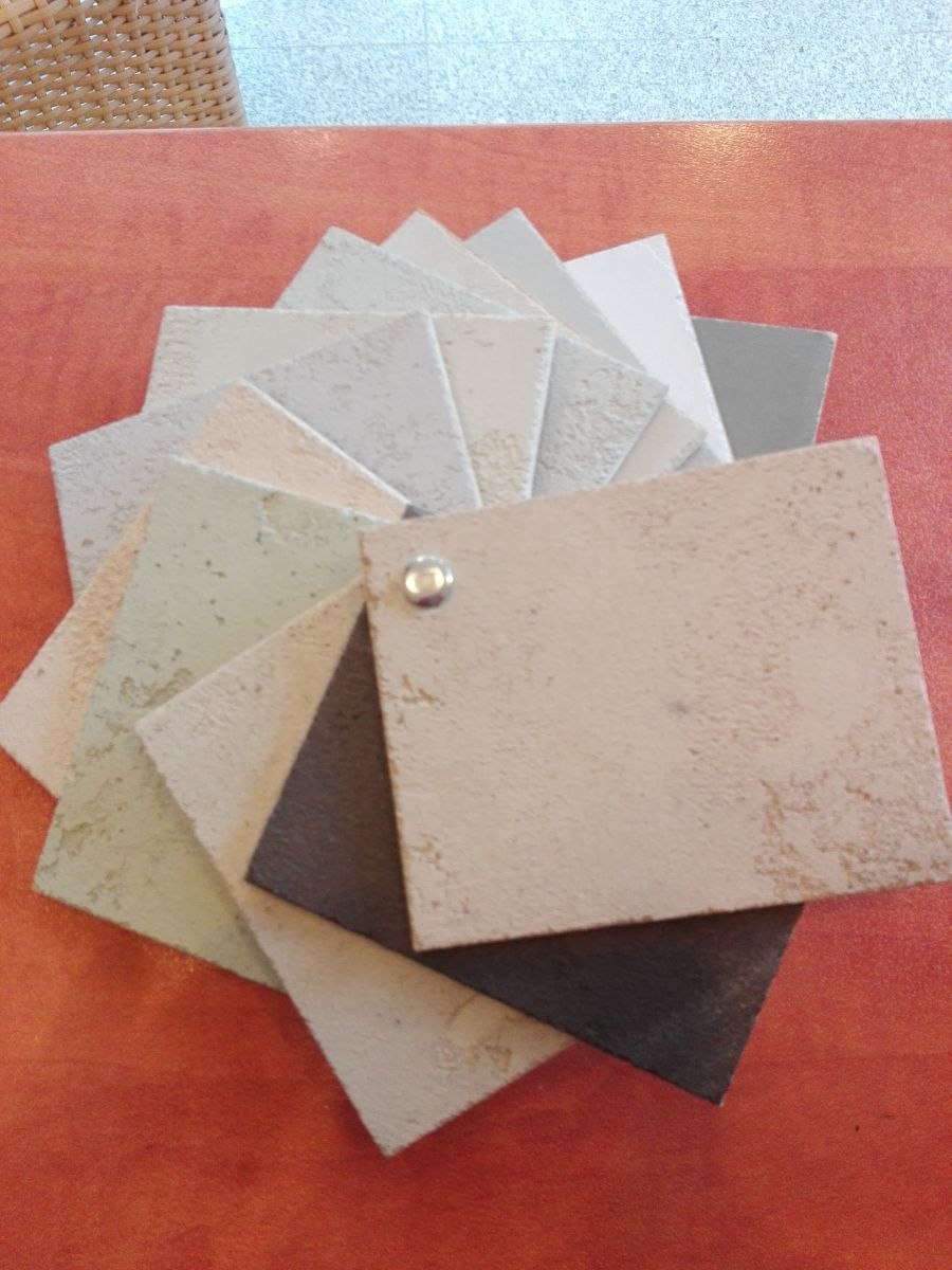 Concrete effect samples